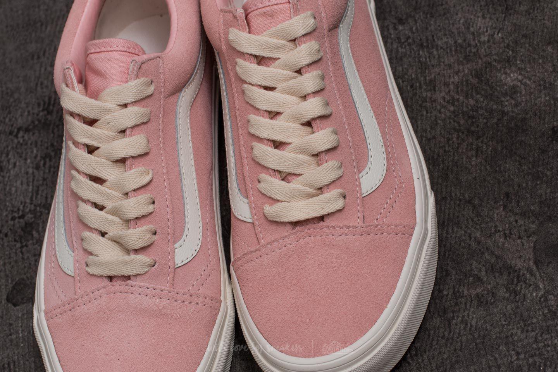 vans old skool herringbone lace pink