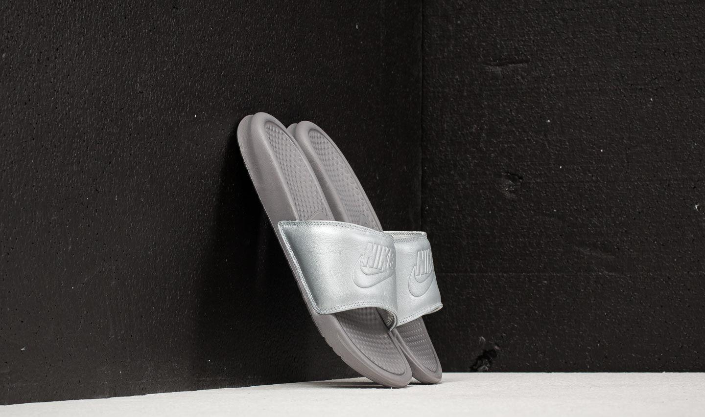 281df2d87 Lyst - Nike Wmns Benassi Jdi Bp Metallic Silver in Metallic - Save 26%