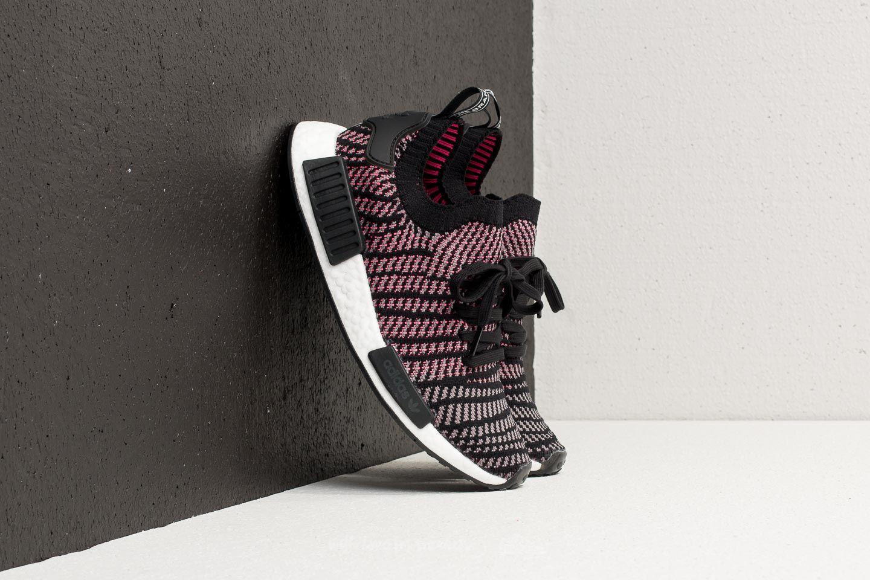 promo code 9f9cc c1c10 Men's Adidas Nmd_r1 Stlt Primeknit Core Black/ Gray Four/ Solar Pink