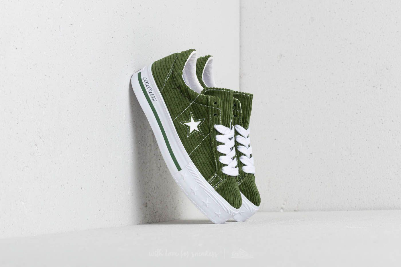 745618330e5 Lyst - Converse X Mademe One Star Platform Ox Garden Green in Green