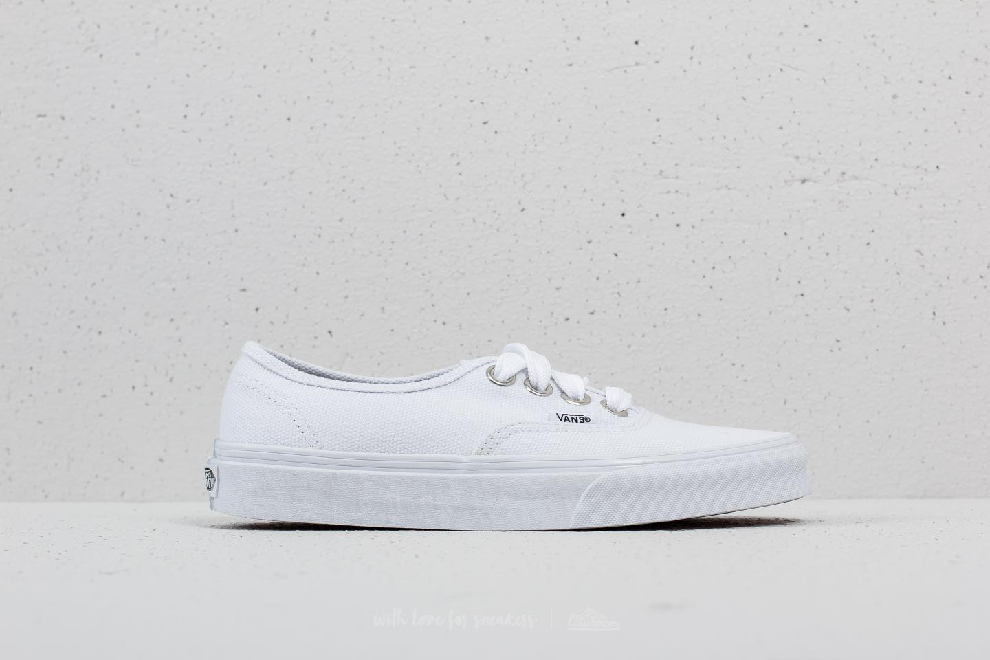 bc2afe0ab32e72 Lyst - Vans Authentic (oversized Lace) True White in White