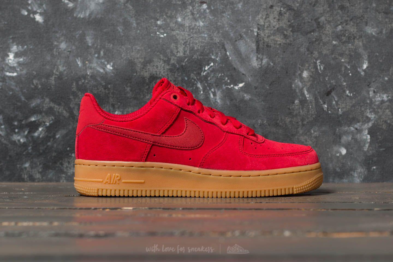 Nike Sportswear AIR FORCE 1 '07 SE - Trainers - red crush/white/black T6e4Cy