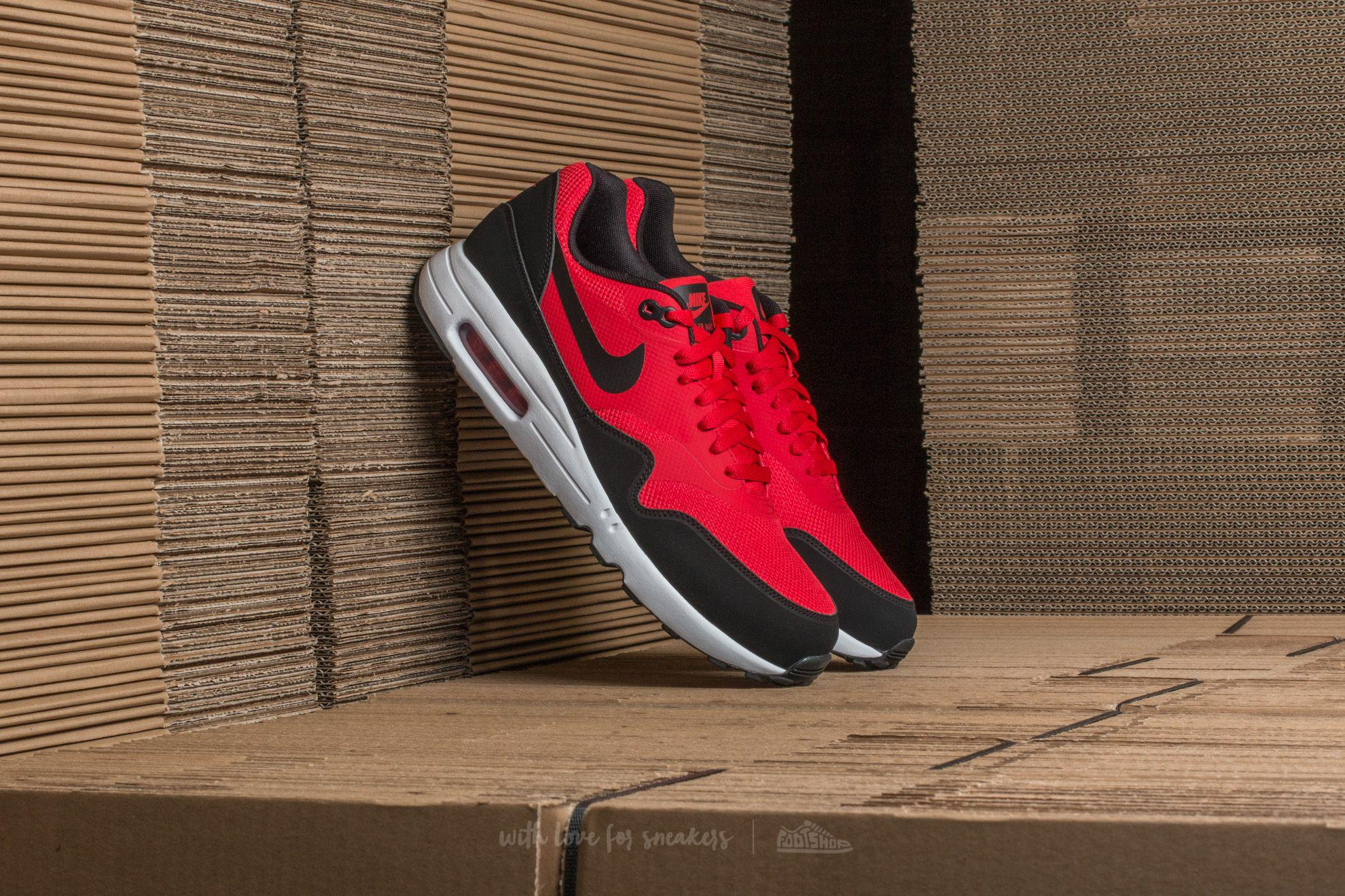 Lyst Nike Air Max 1 Ultra Negro Esencial Universidad Rojo  Negro Ultra b3621c