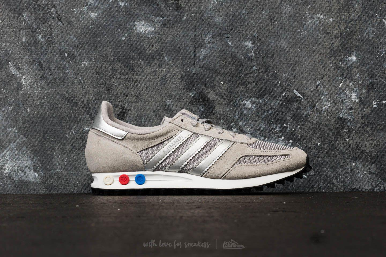 Adidas Originals Gray Adidas La Trainer Medium Solid Grey Metallic Silver Ftw White for men