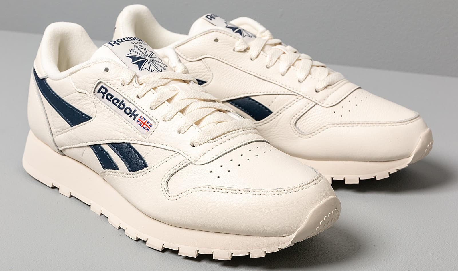 Reebok Cl Leather Mu Chalk Paperwht Coll Navy