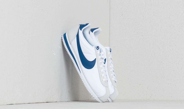 8b6653a19 Lyst - Nike Classic Cortez Nylon White  Gym Blue in Blue for Men