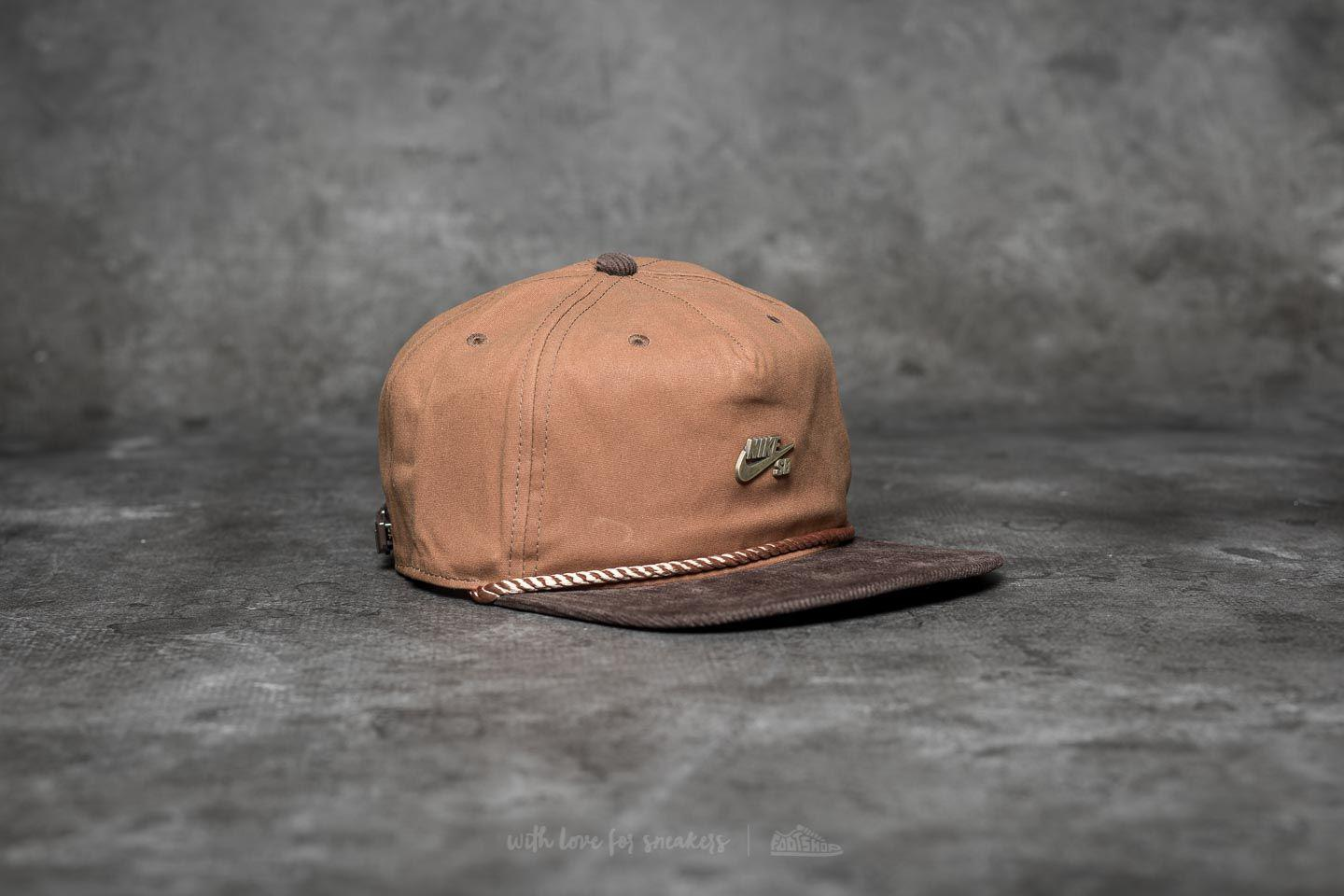 c97b09aa89b28 Nike Sb Waxed Canvas Pro Cap Ale Brown  Baroque Brown  Anthracite in ...