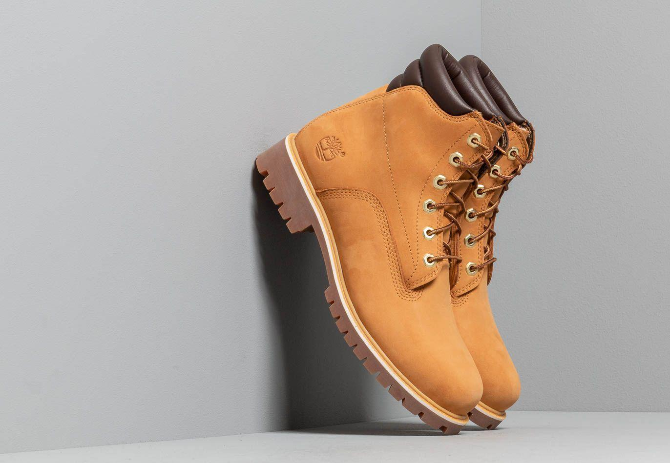 Men's Orange Alburn 6in Waterproof Boot Wheat Nubuck