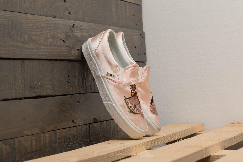 Vans Linen Classic Slip-on (california Souvenir) Rose Dust/ Blanc ...