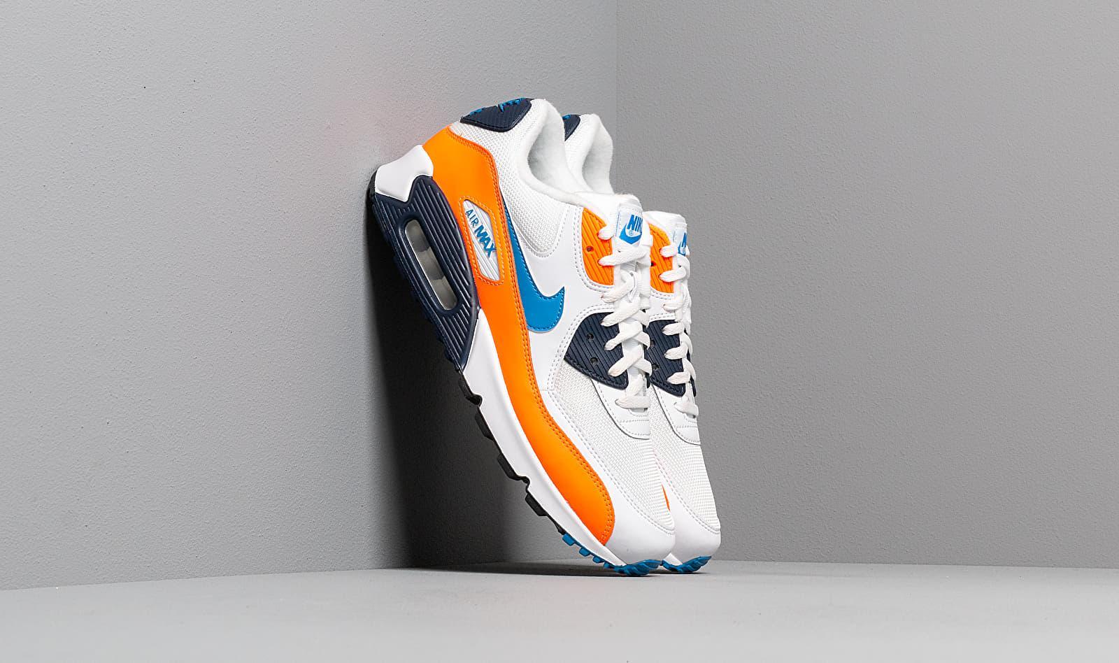 Nike Air Max 90 Essential White/ Photo Blue-total Orange for Men ...