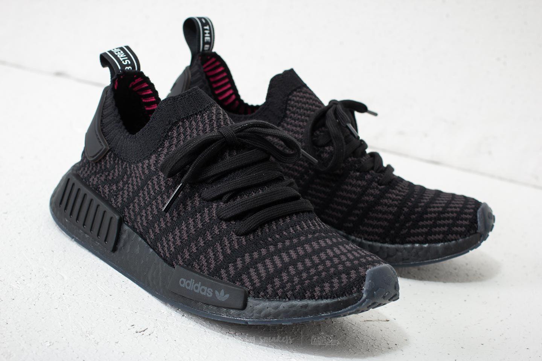 48c4914cc304e Adidas Originals - Adidas Nmd r1 Stlt Primeknit Core Black  Utility Black   Solar Pink for