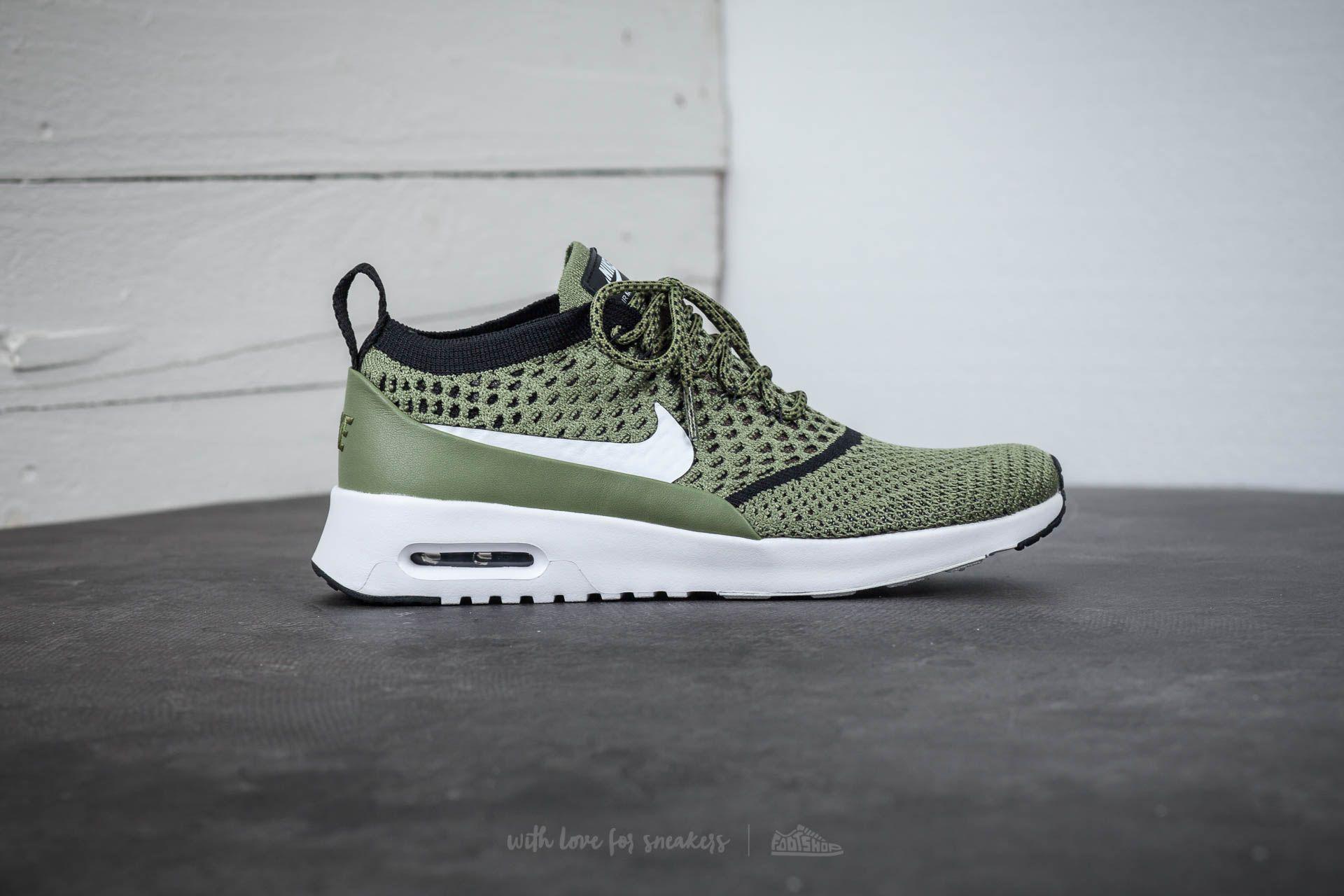 63e4e34f62 Nike Wmns Air Max Thea Ultra Flyknit Palm Green/ White-black in ...