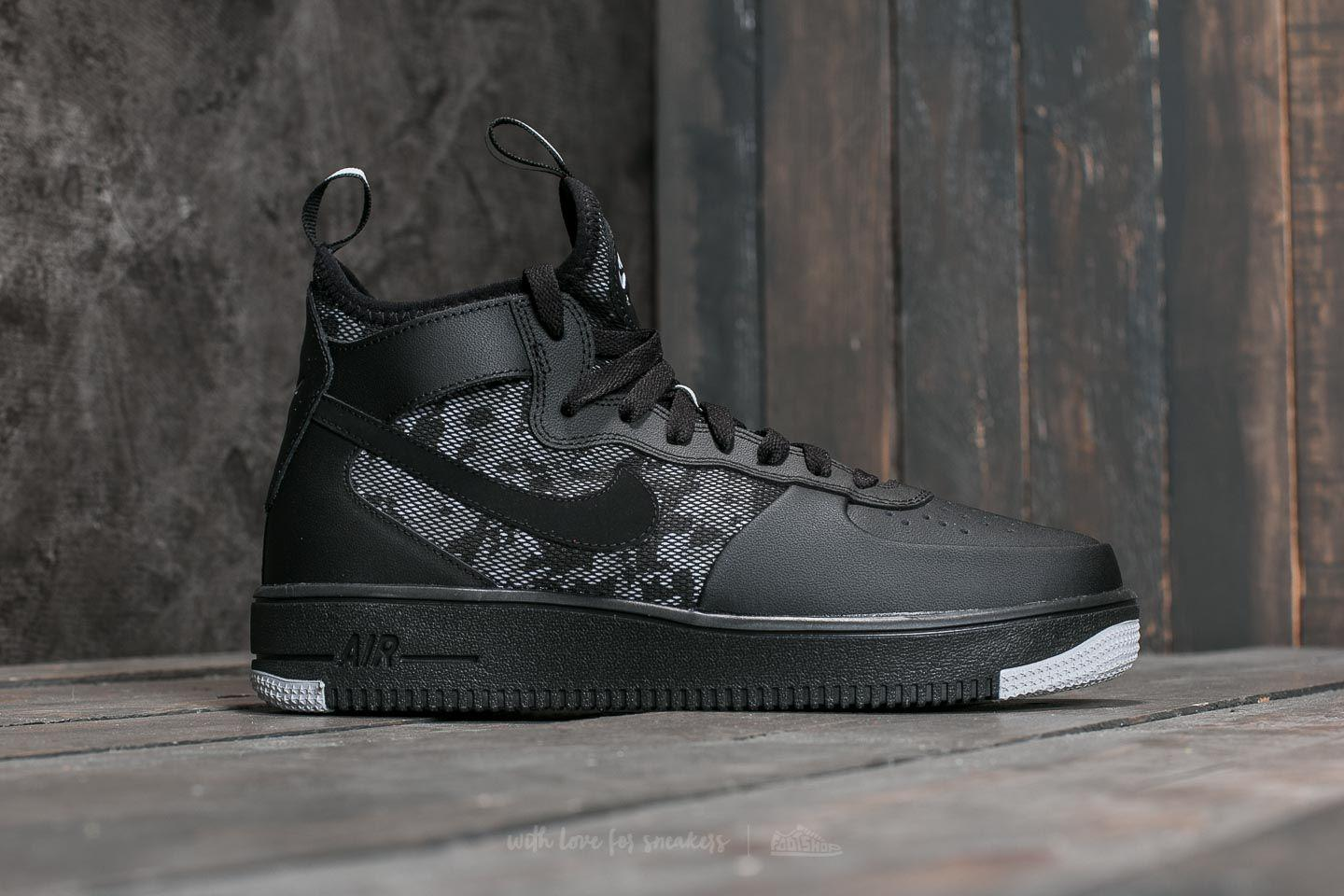 the latest 3ff56 d829e Men's Air Force 1 Ultraforce Mid Black/ Black-wolf Grey-white