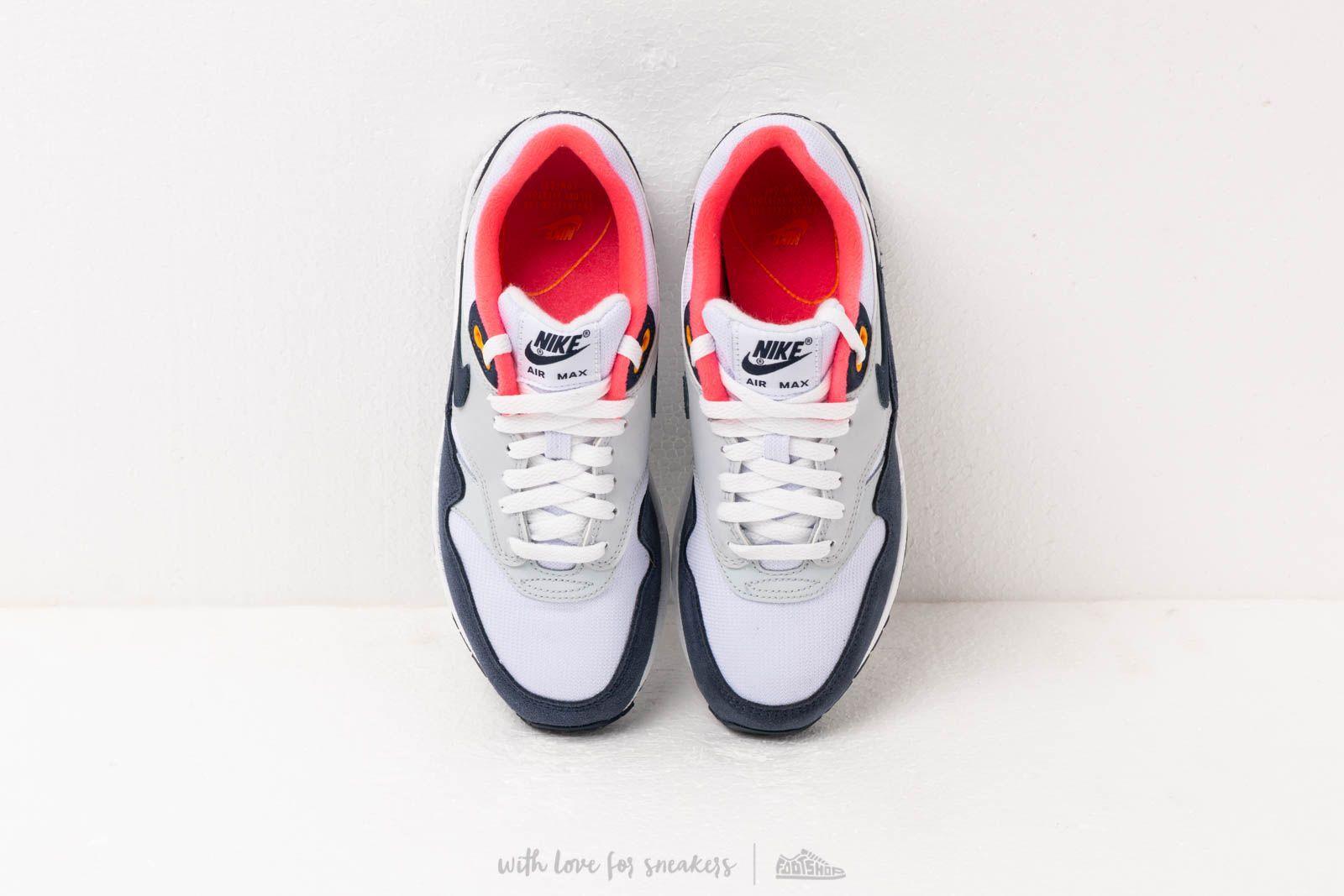 Nike Nike Wmns Air Max 1 White Midnight Navy Pure Platinum
