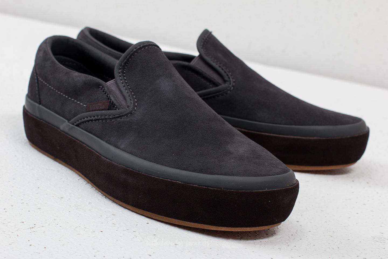 Vans Multicolor Classic Slip-on Platform (suede Outsole) Asphalt/ Licorice