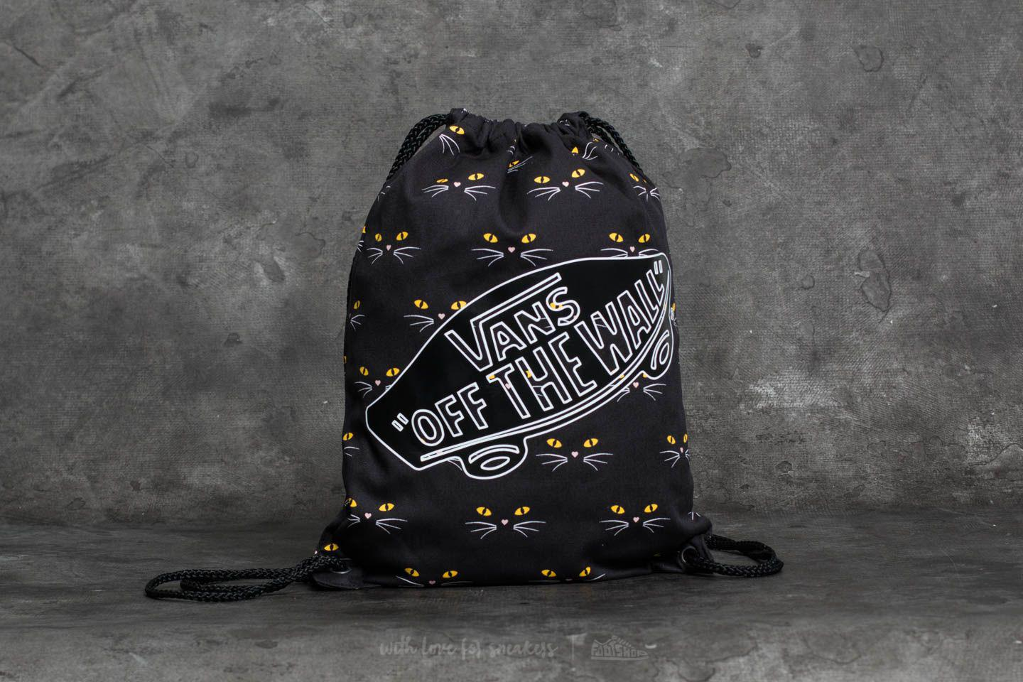 2b6c846838 Lyst Vans Off The Wall Benched Novelty Bag Black Cat In Black