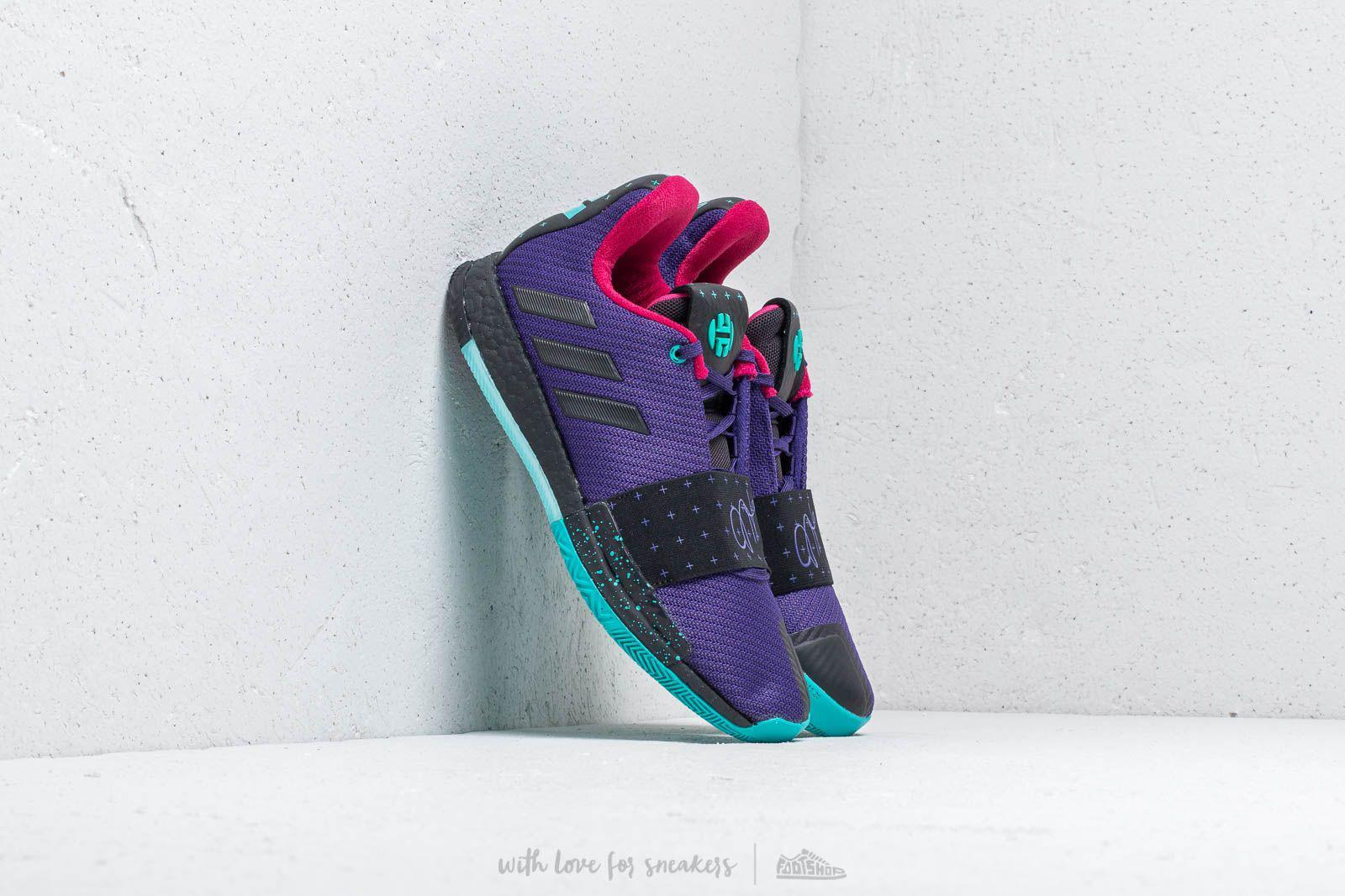 adidas Originals. Men s Adidas Harden Vol.3 Collegiate Purple  Core Black   Hi-res Aqua 565eda544