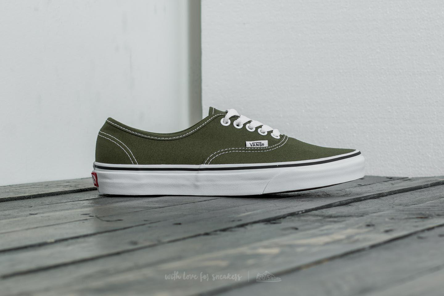 wholesale sales best shoes sale usa online Vans Canvas Authentic Winter Moss/ True White for Men - Lyst