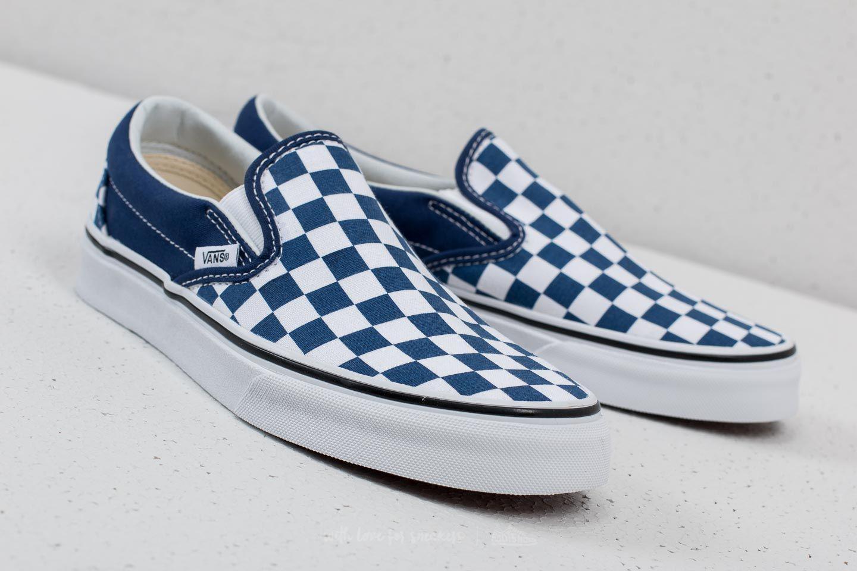 7bad188722 Lyst - Vans Classic Slip-on (checkerboard) Estate Blue in Blue for Men