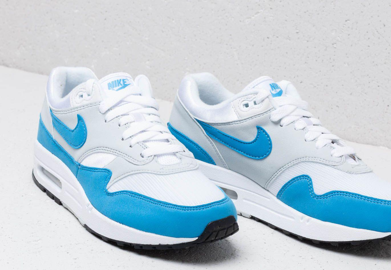 promo code 1bf21 35c07 Nike - W Air Max 1 Essential White  University Blue - Lyst. View fullscreen