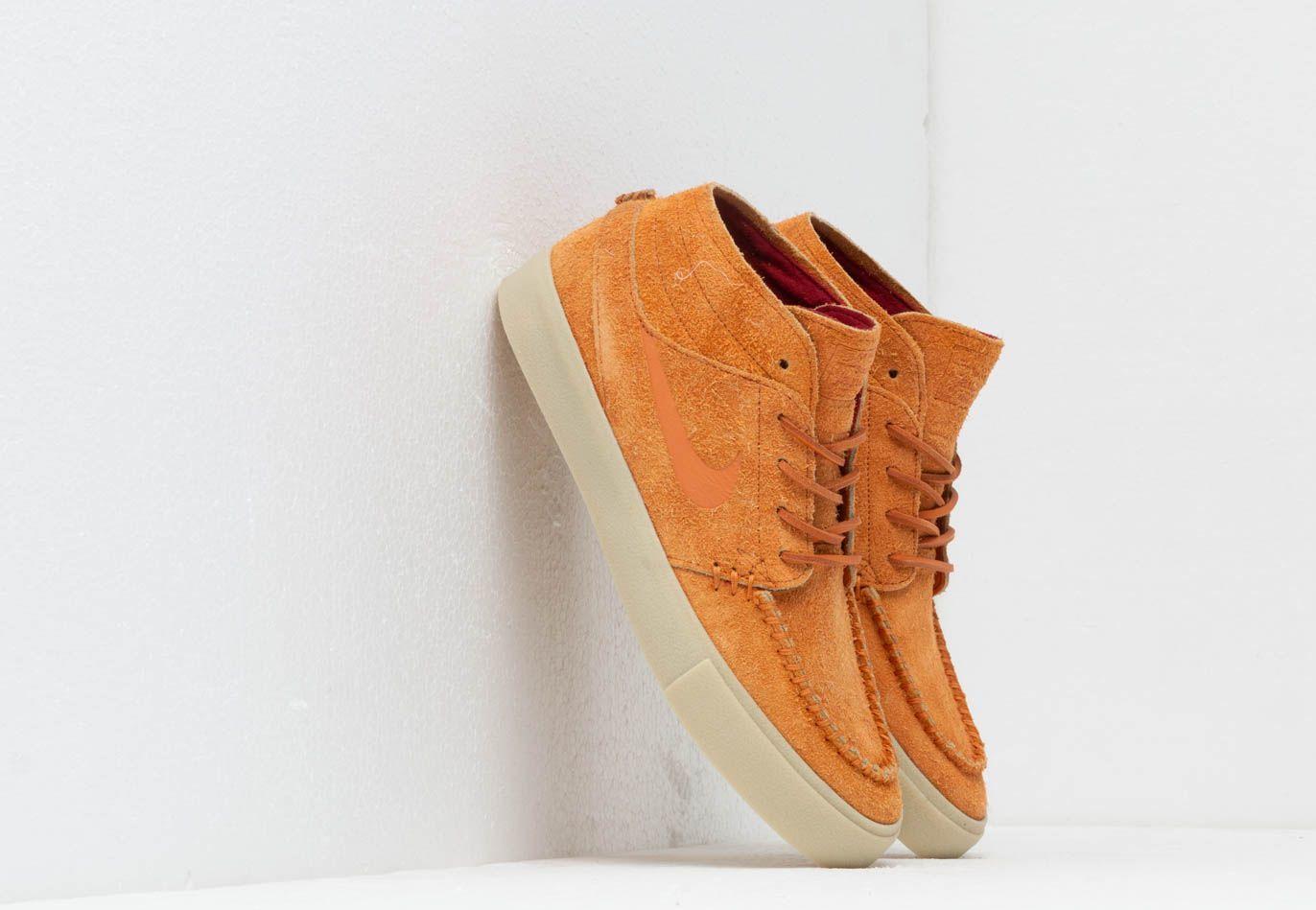 Nike Sb Zoom Stefan Janoski Mid Crafted Skate Shoe in Orange for ...