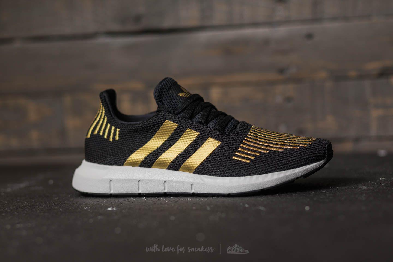 f8f6e61af8f9 Lyst - adidas Originals Adidas Swift Run W Core Black  Gold Metalic ...