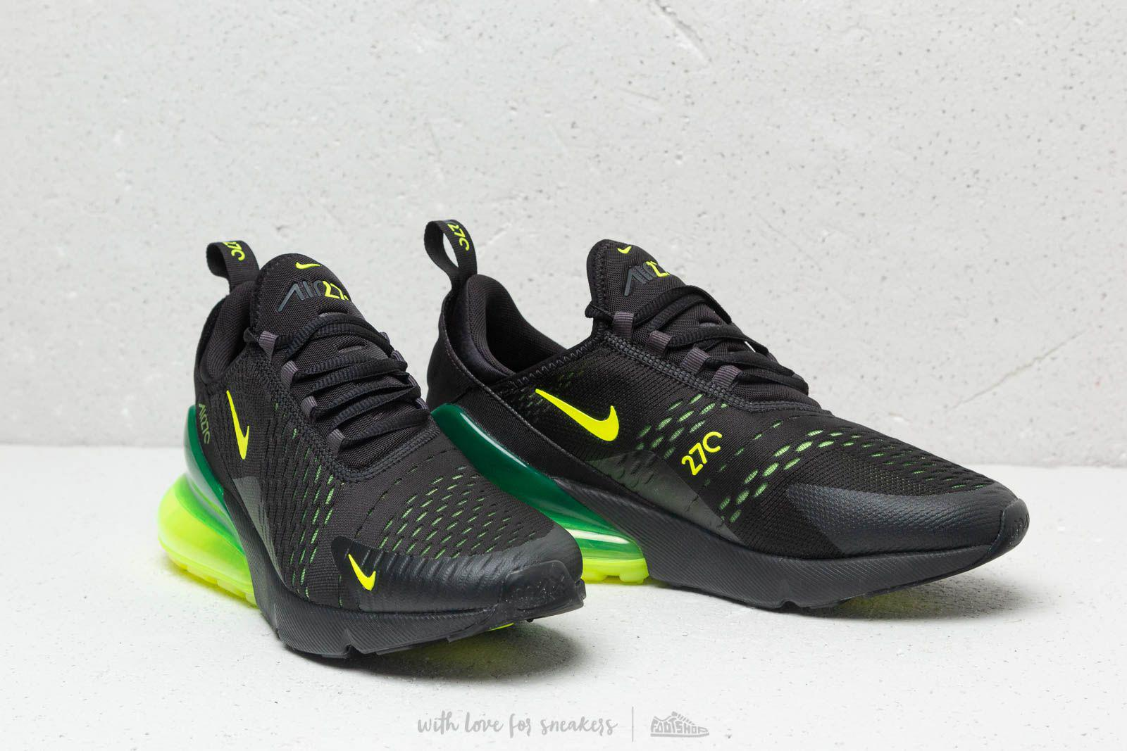 sports shoes 437ee b9fc7 Nike Air Max 270 Black  Volt-black-oil Grey in Black for Men - Lyst