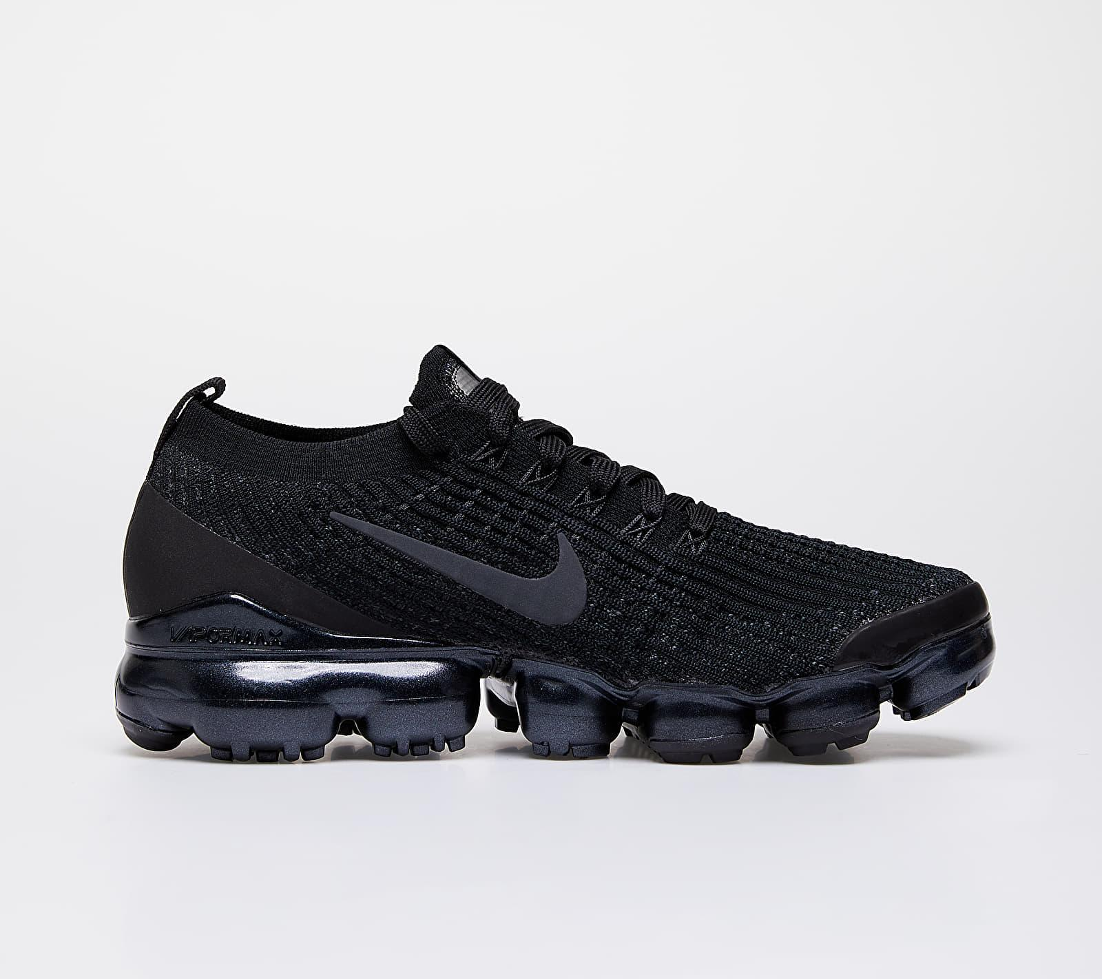 W Air Vapormax Flyknit 3 Black/ Anthracite-White-Metallic Silver Nike