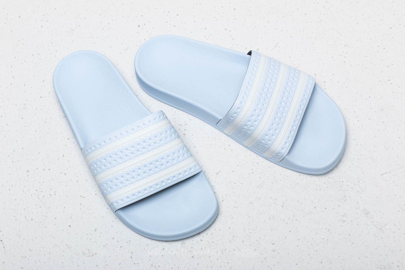 Adidas Adilette Aero Blue Ftw White Aero Blue