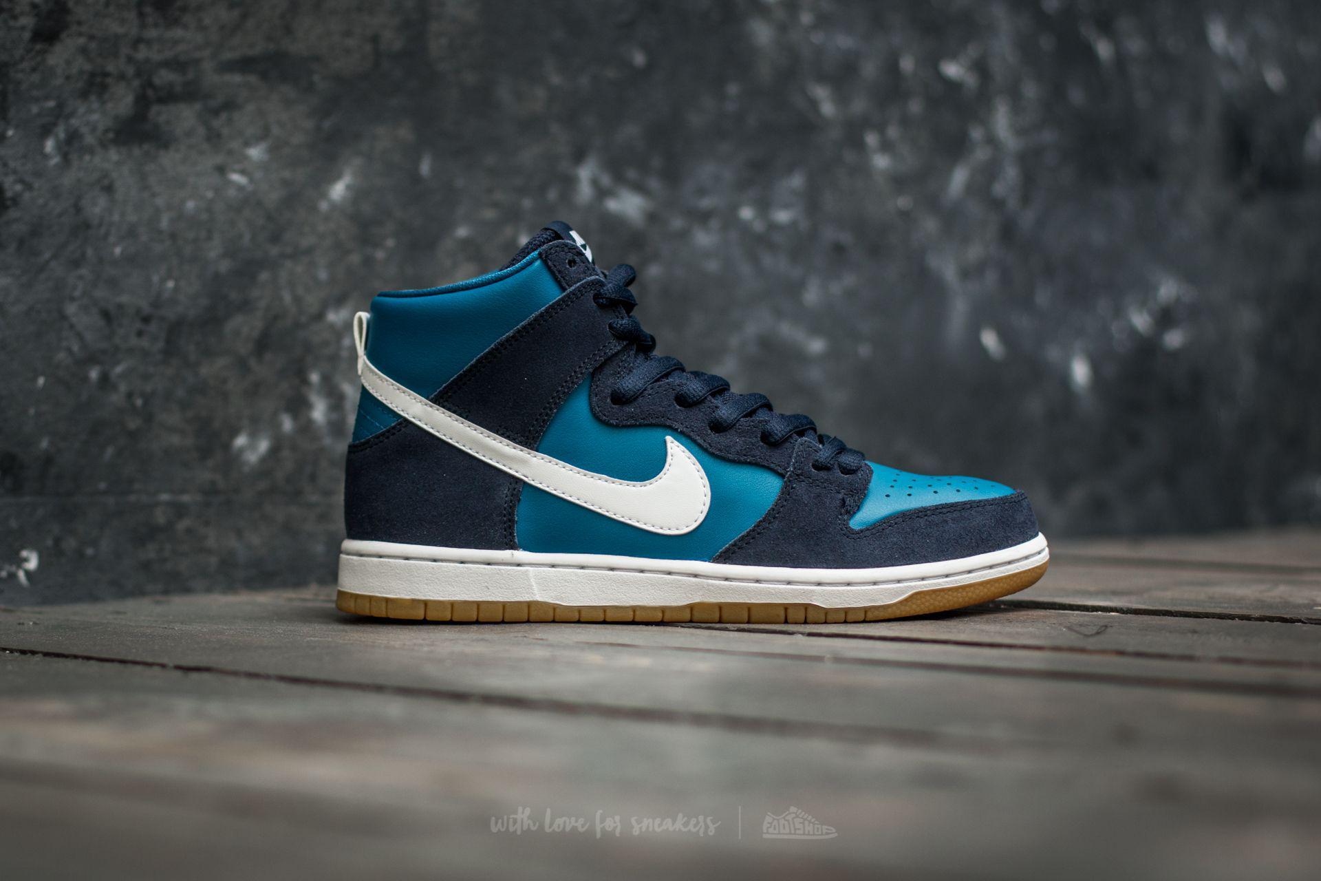 6080d3079fa Nike Sb Zoom Dunk High Pro Obsidian/ White-industrial Blue in Blue ...