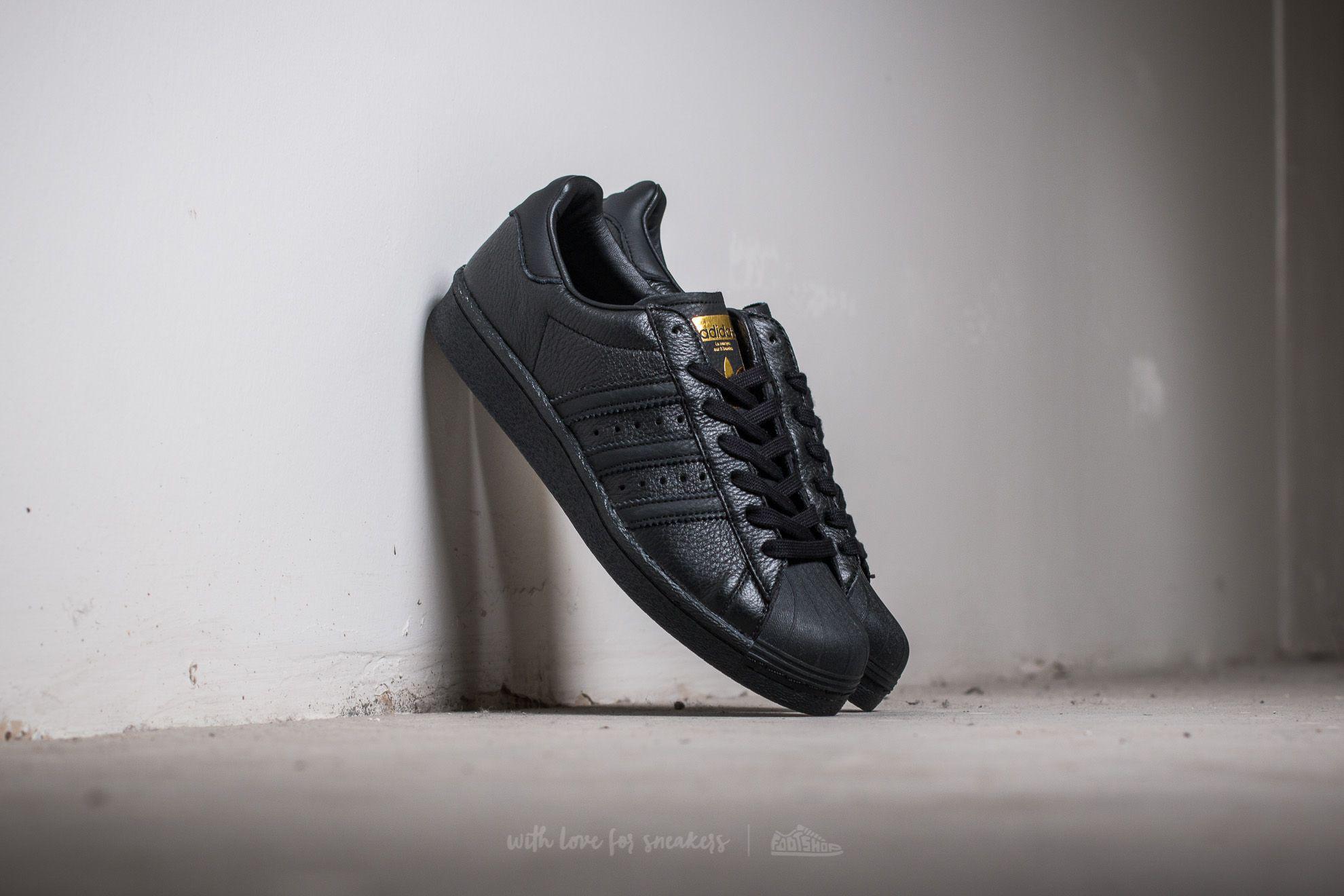 Adidas Superstar Core Black/ Core Black/ Gold Metallic