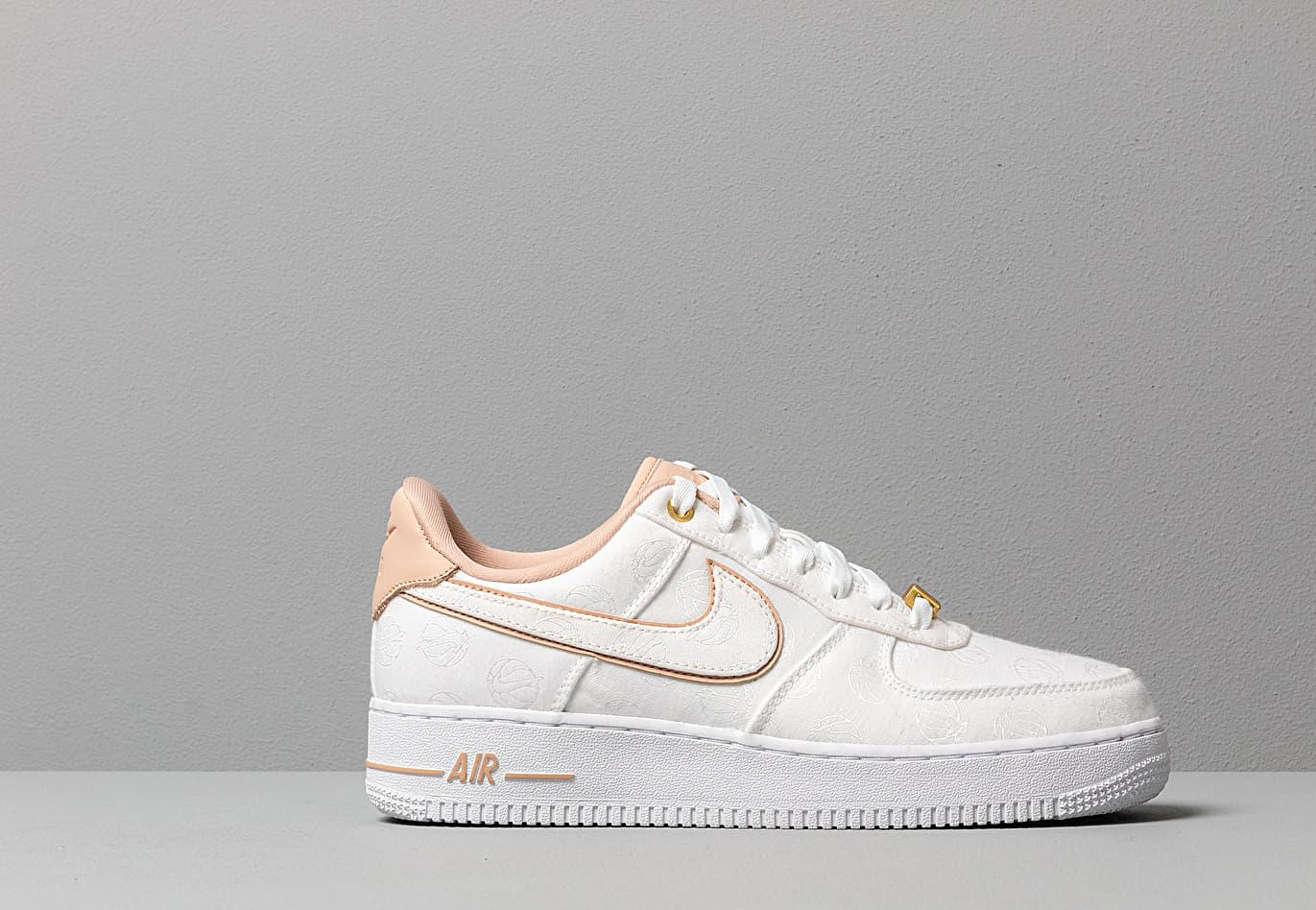Wmns Air Force 1 '07 Lx White/ Bio Beige-White-Metallic Gold Nike ...