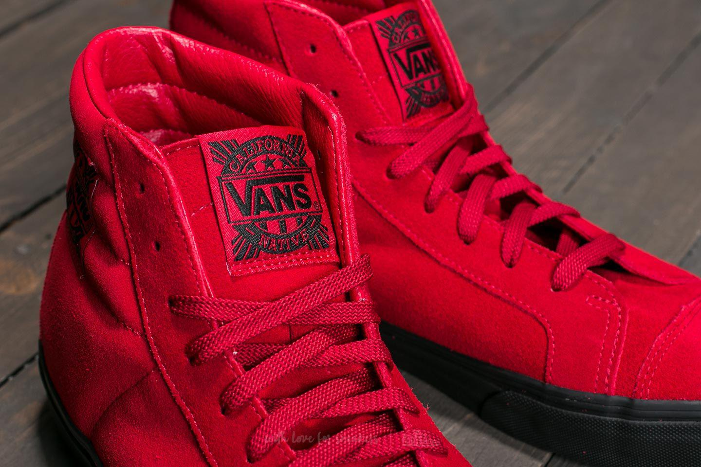 b540ddb49c1 Lyst - Vans Style 238 (native Suede) Red  Black in Red for Men