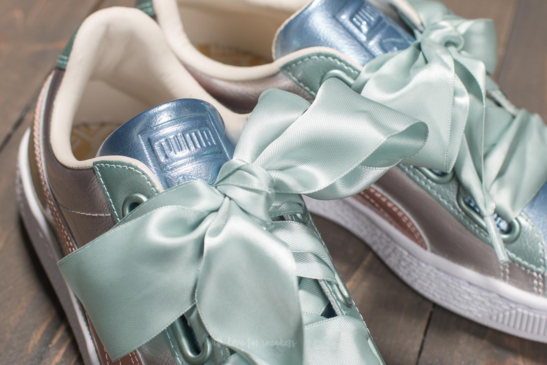 separation shoes 613f0 c62bc PUMA Metallic Basket Heart Bauble Fm Wn's Silver