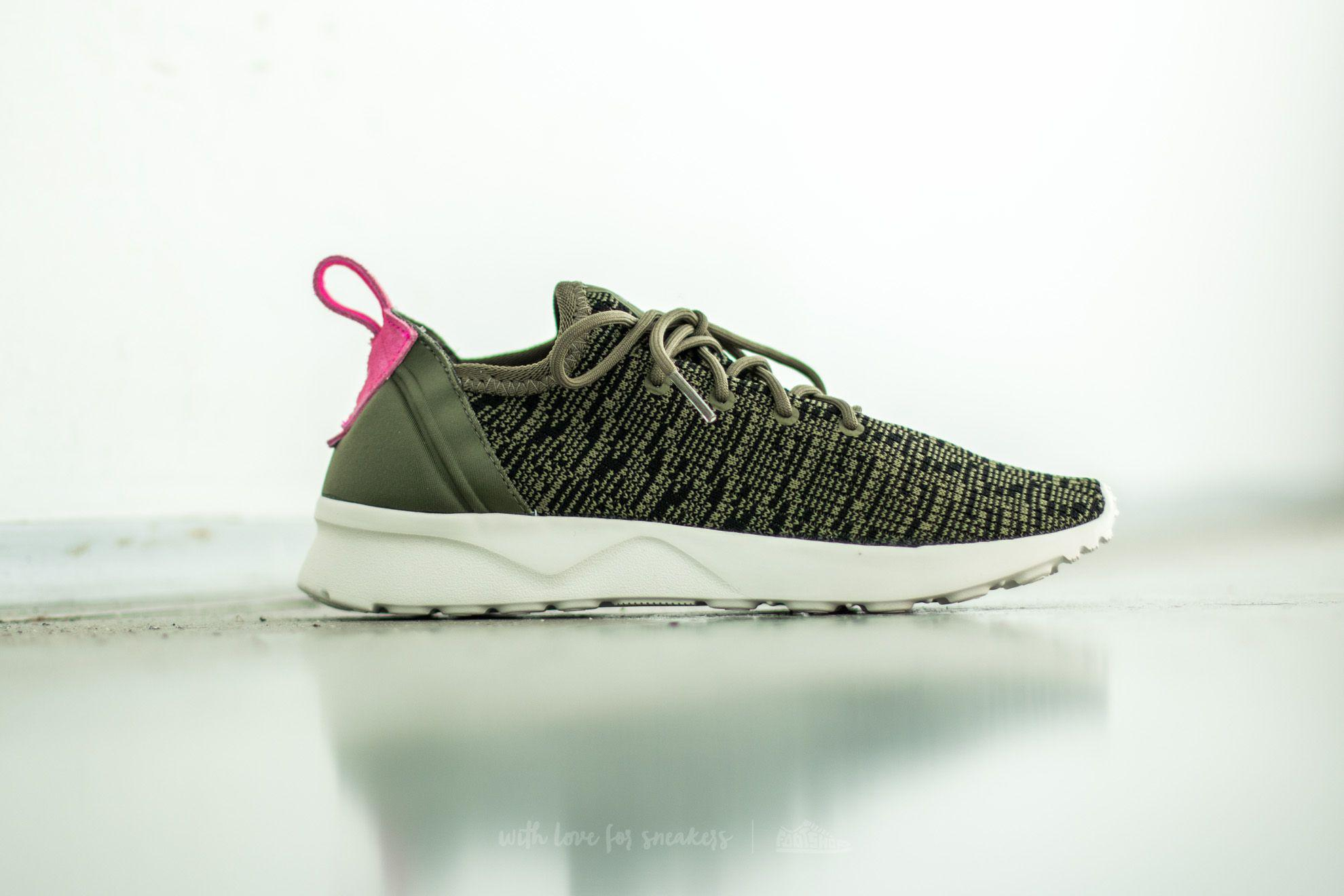 d5ad36be6538c Lyst - adidas Originals Adidas Zx Flux Adv Virtue Sock W Olive Cargo ...