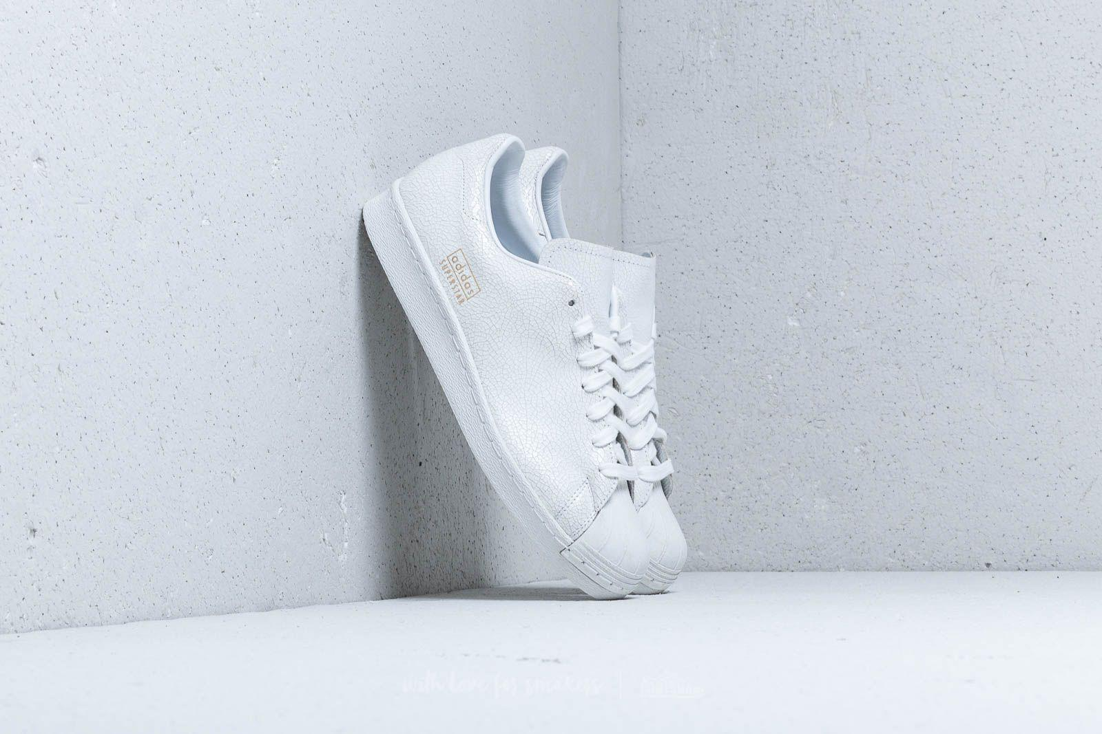 first rate da686 b9cf4 Lyst - adidas Originals Adidas Superstar 80s Clean Ftw White