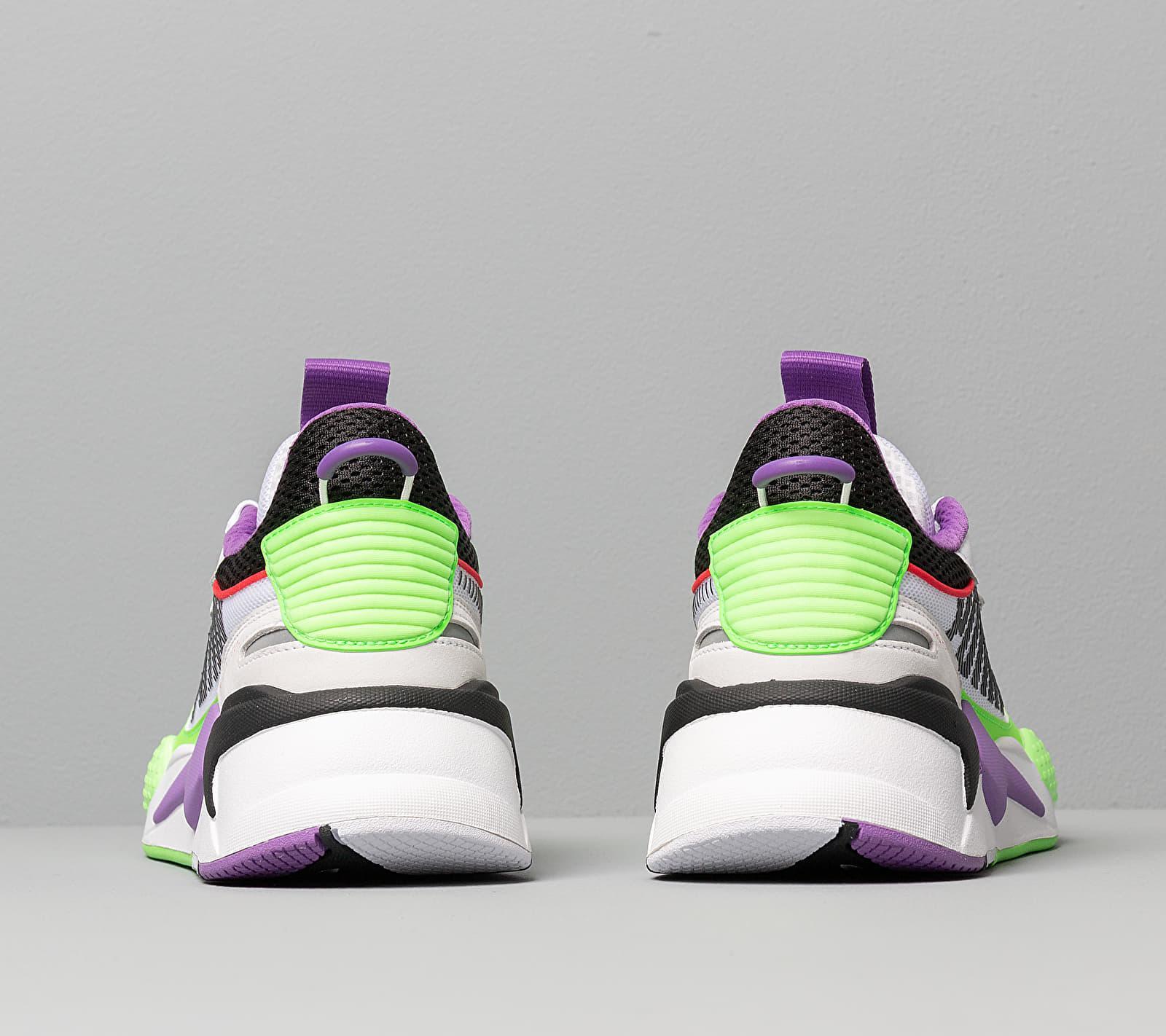 Rs-x Bold White/ Green Gecko/ Royal Lilac