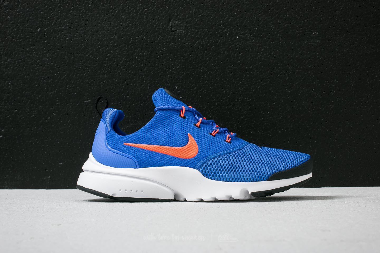 Nike Sportswear PRESTO FLY - Trainers - racer blue/total crimson-black Md0DjCUP