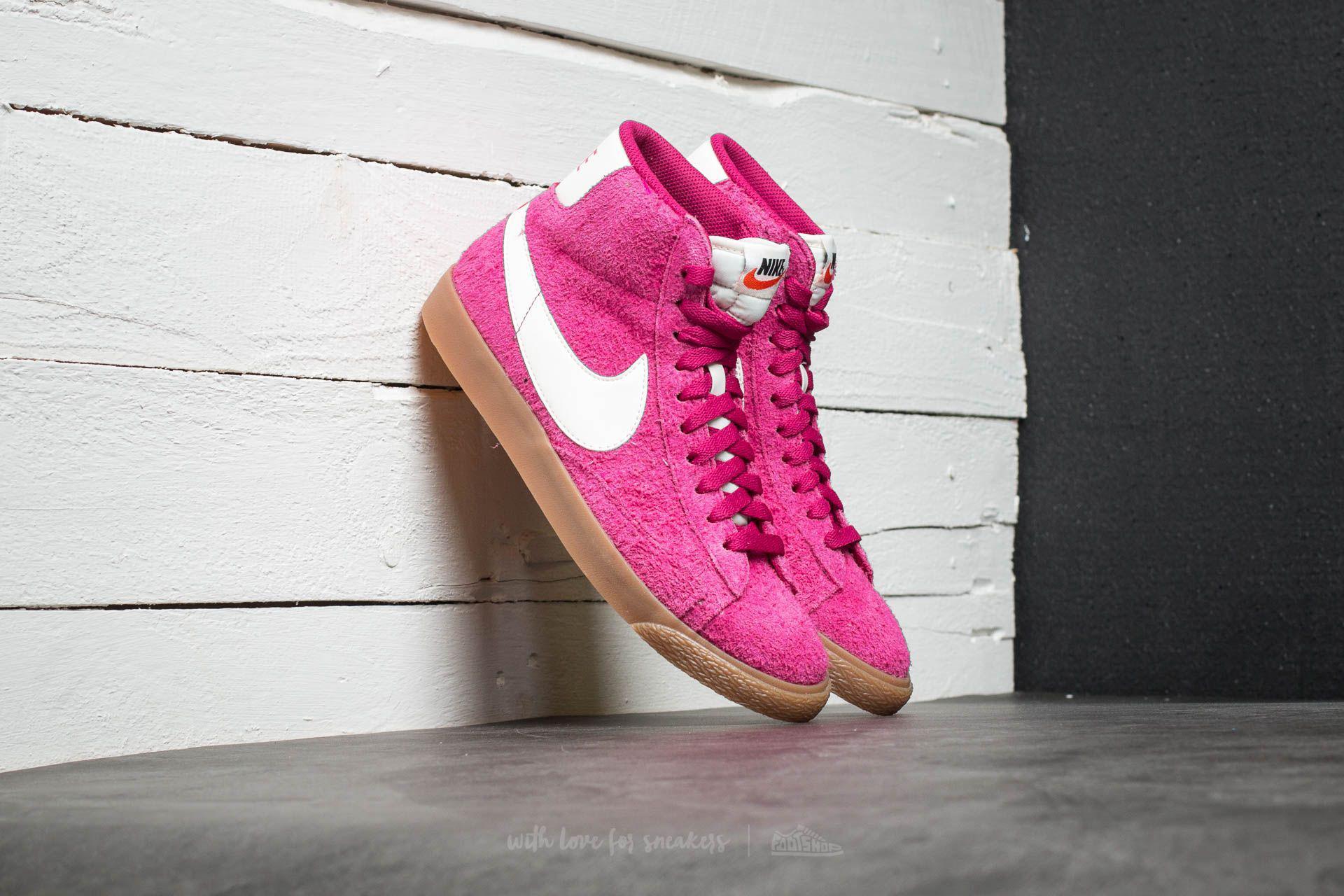 Nike. Women's Wmns Blazer Mid Suede Vintage Sport Fuchsia/ ...