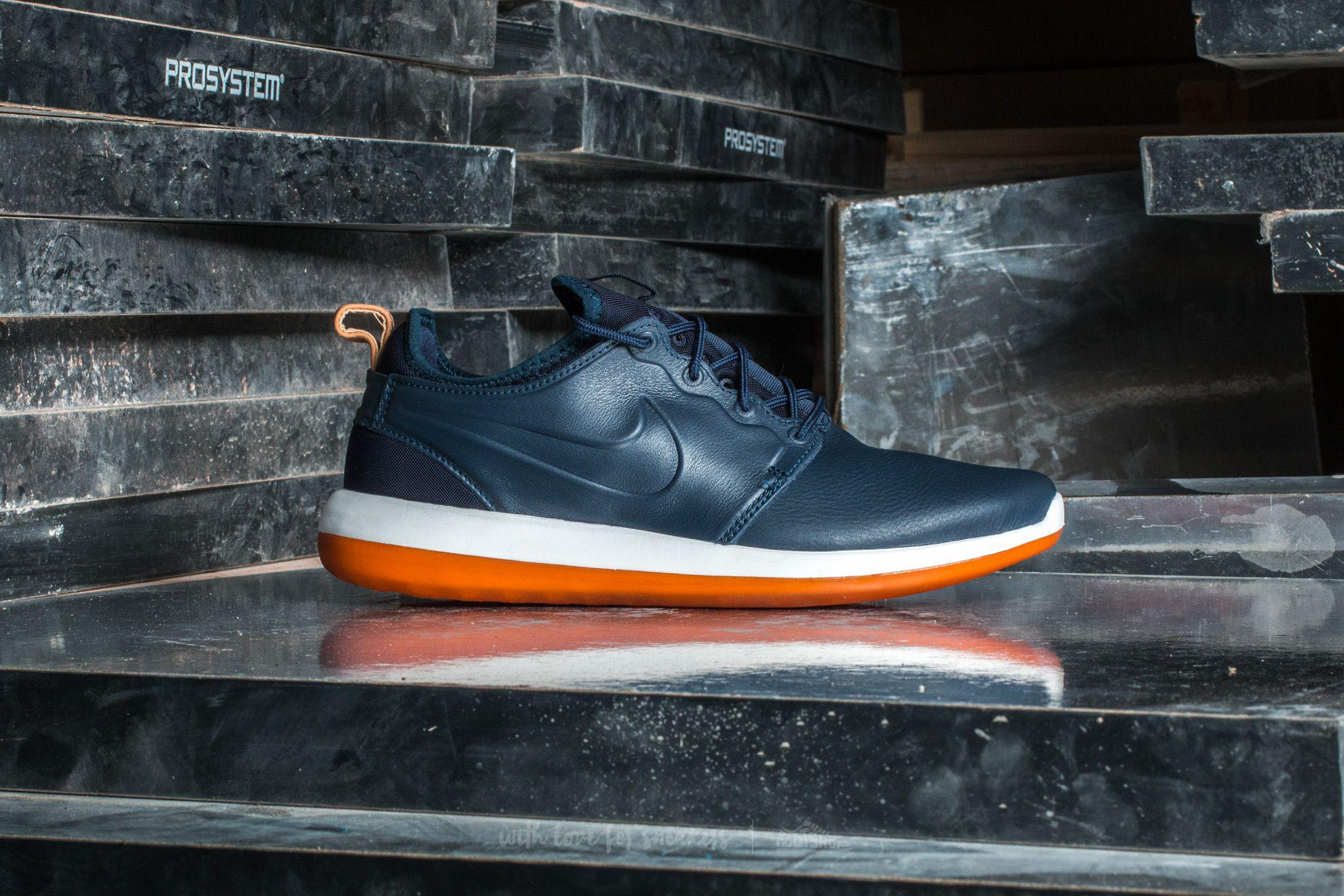 997d86ad2966 Lyst - Nike Roshe Two Leather Premium Obsidian  Obsidian-white in ...