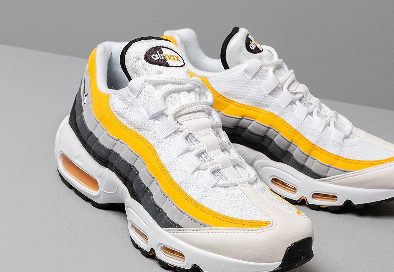 Nike Air Max '95 White/ White-amarillo-dark Grey - Lyst