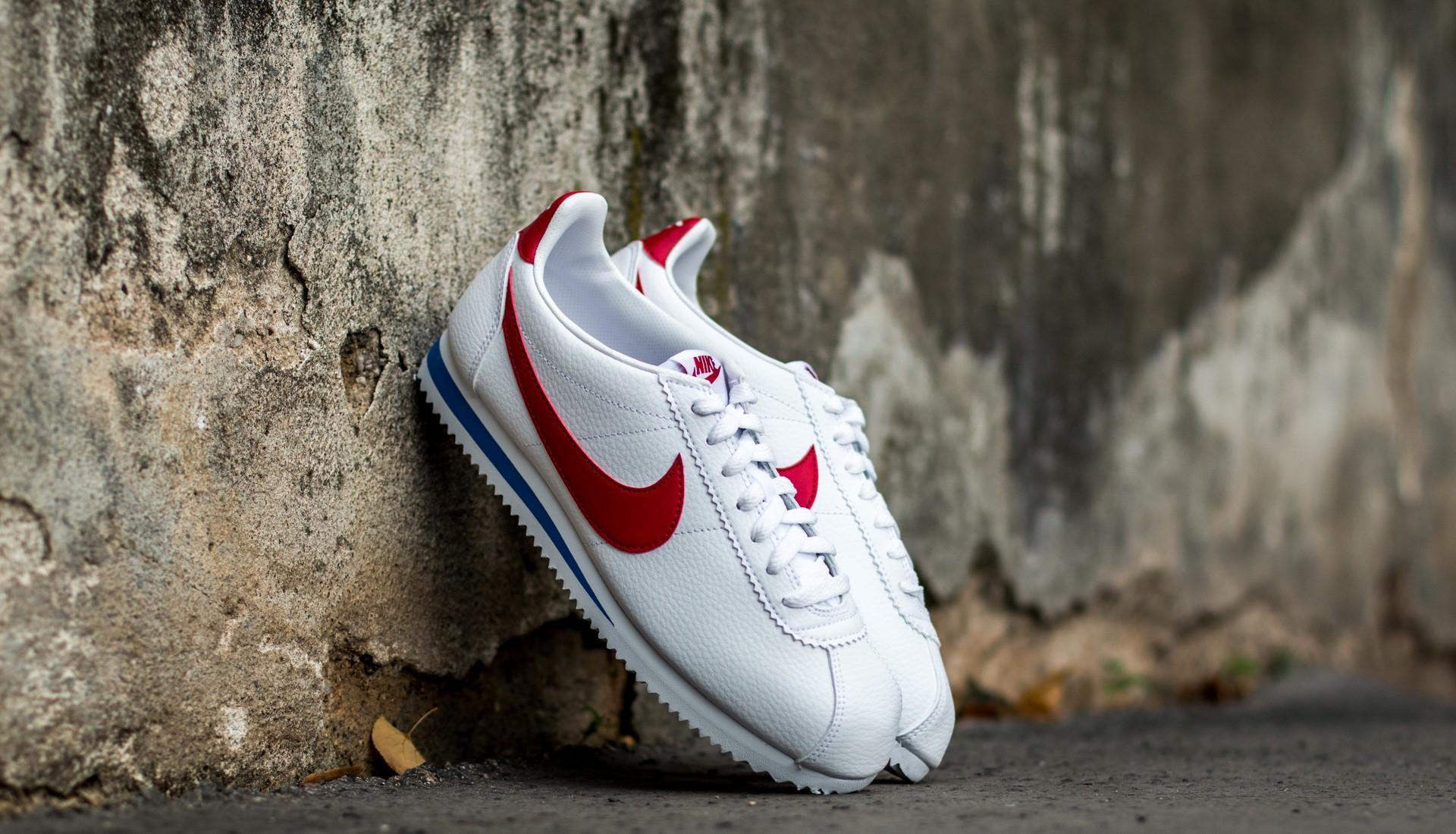 on sale da115 cd34e Lyst - Nike Classic Cortez Leather White  Varsity Red-varsity Royal .