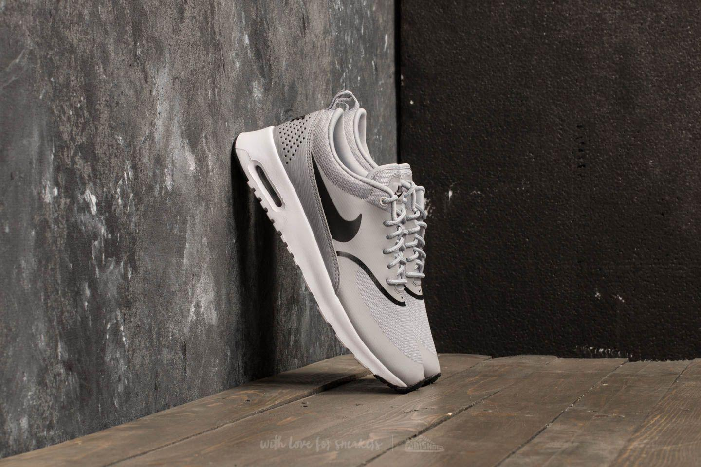 Lyst Nike Wmns Air Max Thea Wolf Grey Black in Gray