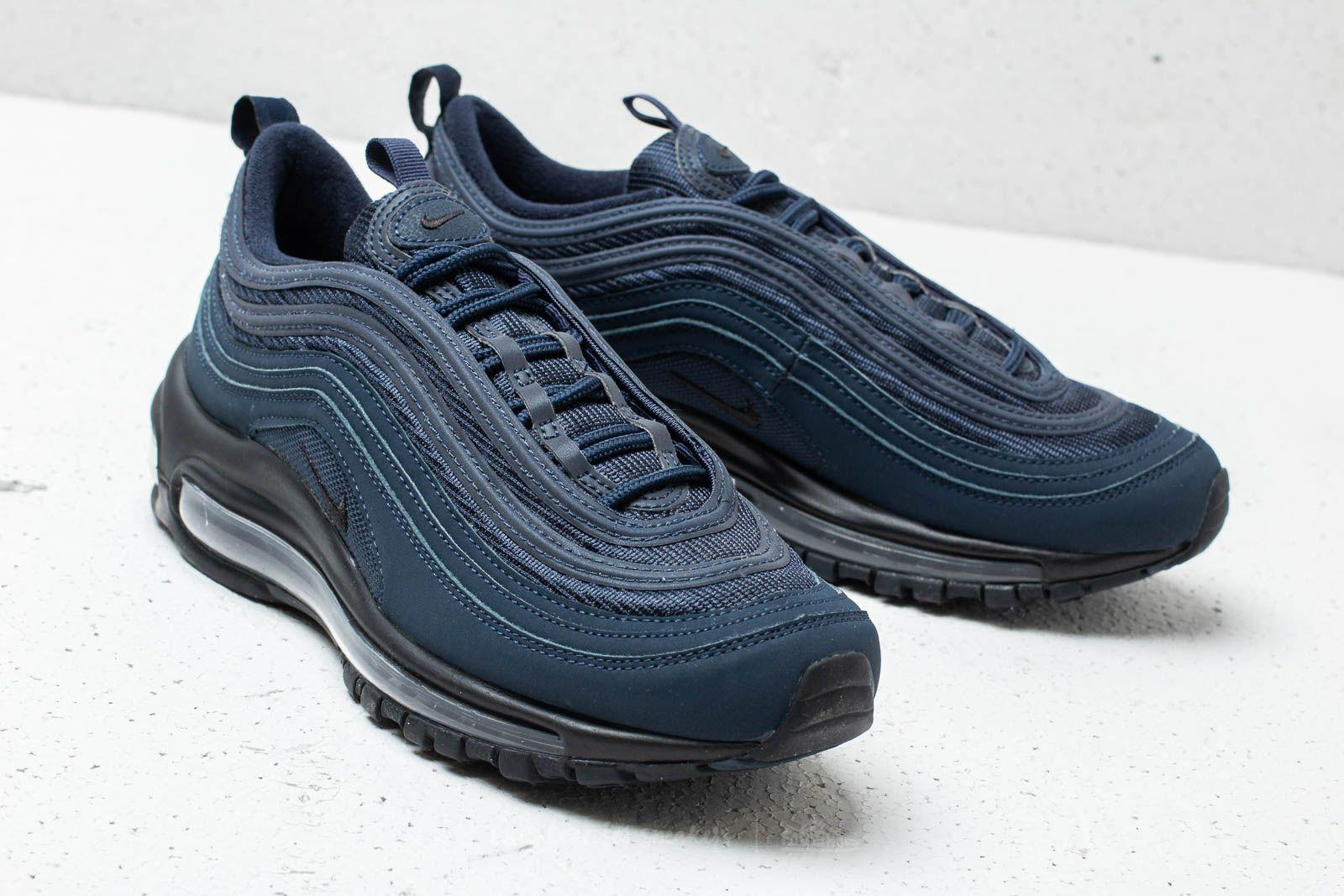 Nike Rubber Air Max 97 (gs) Obsidian/ Black-midnight Navy in Blue ...
