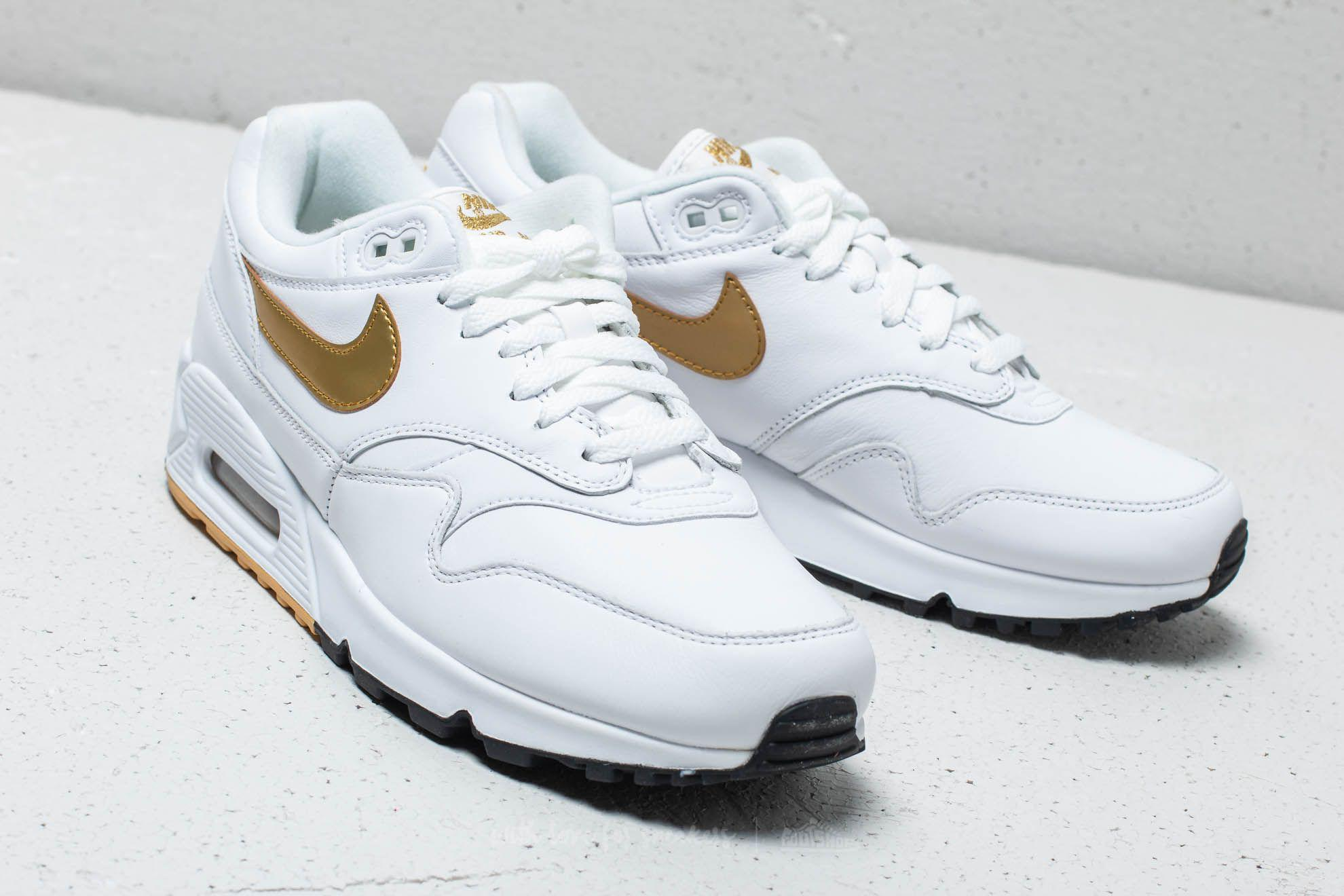 timeless design 81bee 461a8 Nike Air Max 90  1 White  Metallic Gold-black for Men - Lyst