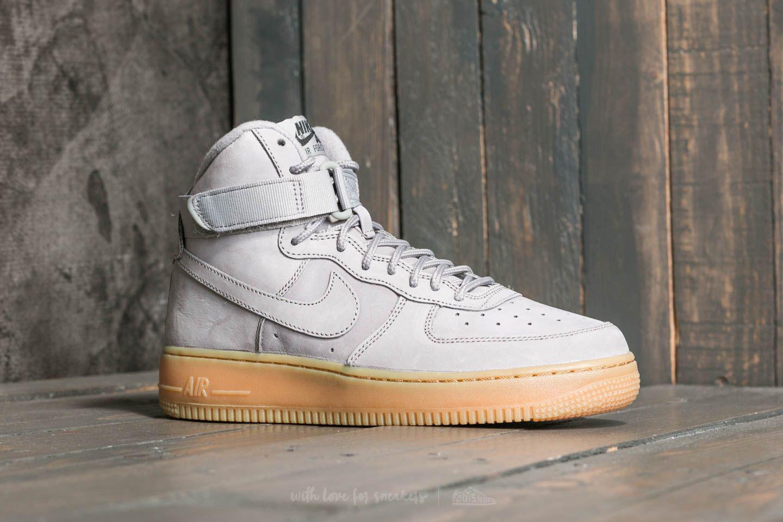 newest 50948 0b18b Nike Gray Air Force 1 High Wb (gs) Medium Grey/ Medium Grey-black for men