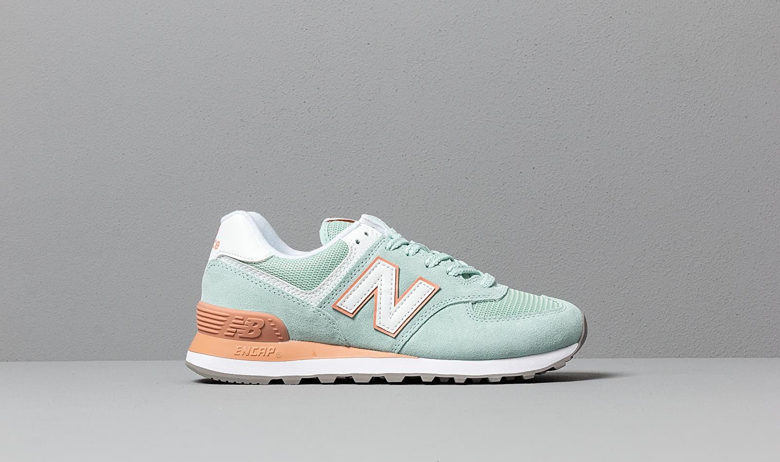 574 White Agave/ Faded Copper en Daim New Balance - Lyst