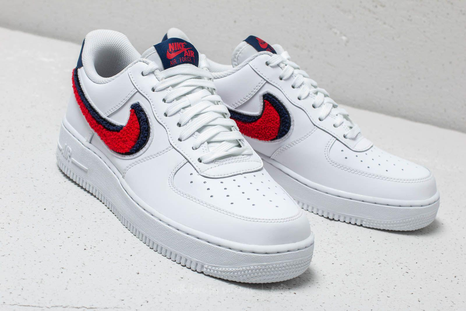 d62362ef9eb1f0 Lyst - Nike Air Force 1 ́07 Lv8 White  University Red-blue Void in ...