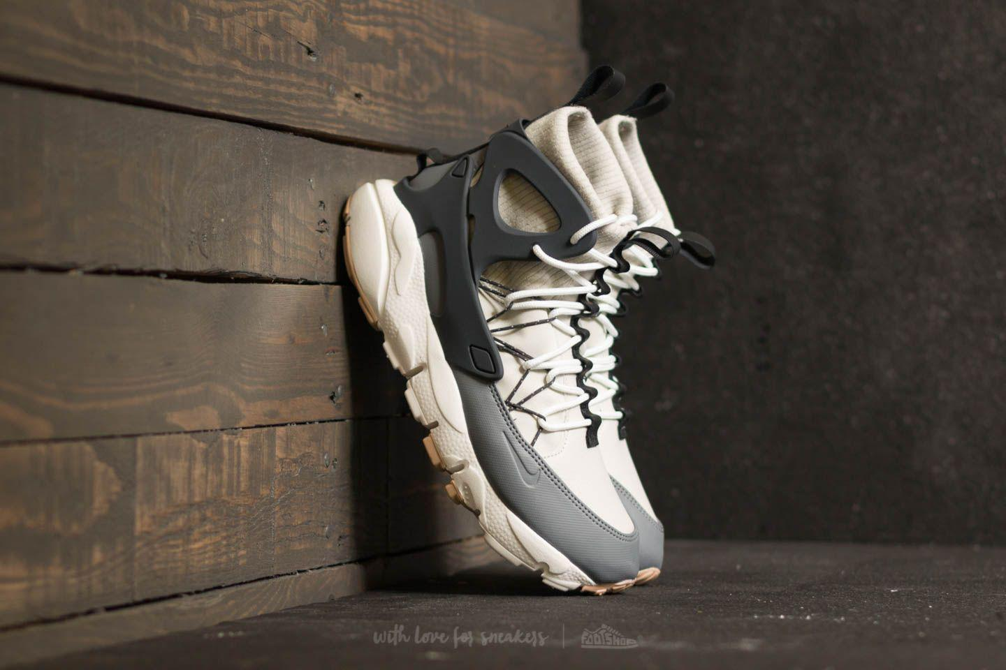 Nike. Men's Gray W Air Footscape Mid Light Bone/ Anthracite