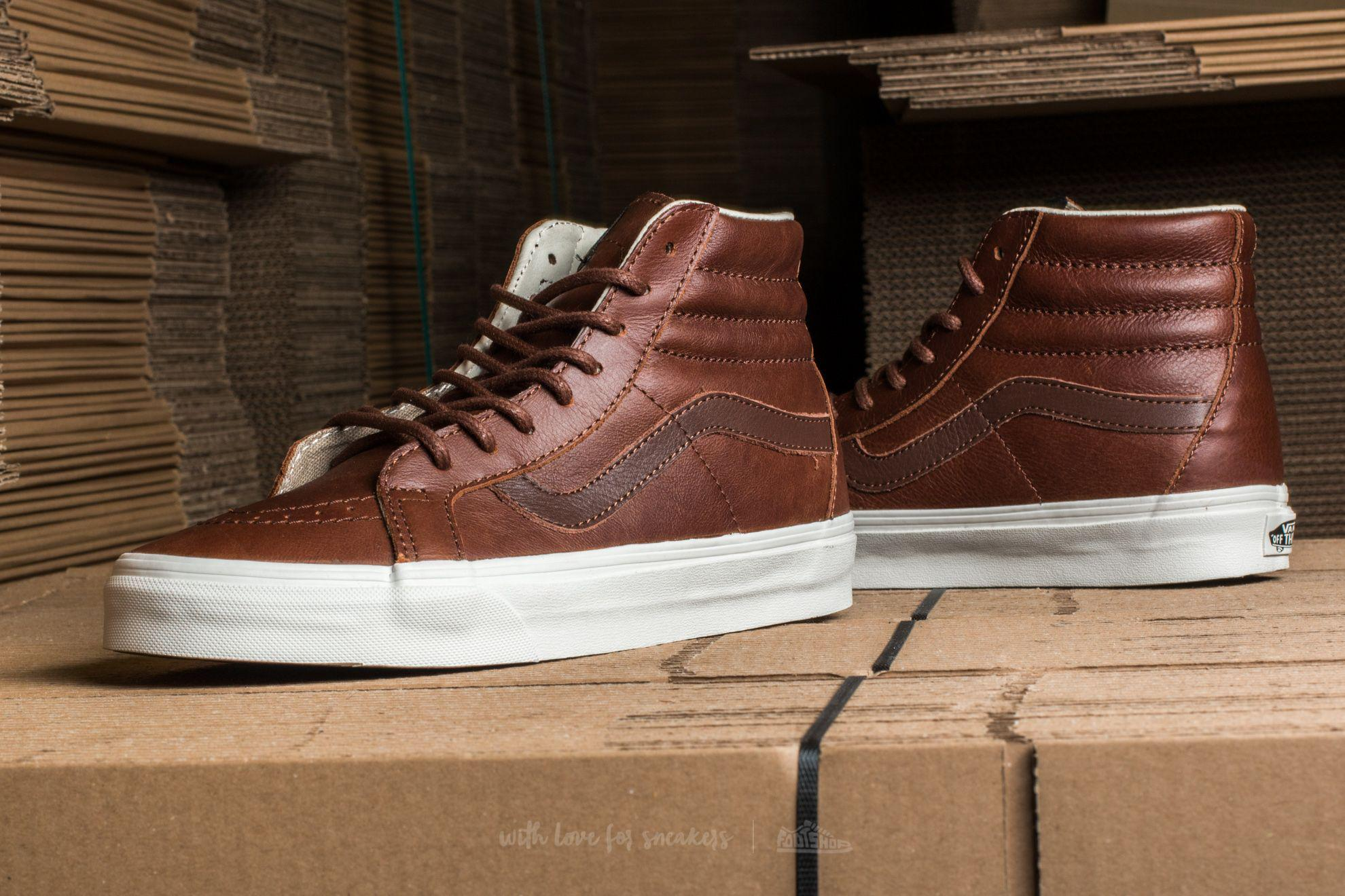 Lyst - Vans Sk8-hi Reissue Leather Dachshund  Potting Soil in Brown ... bdf6c45075ca